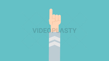 Hand Gesture: One ANIMATION
