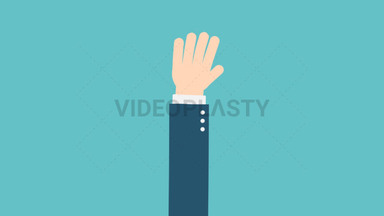 Hand Gesture: Waving ANIMATION