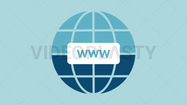 Internet World Wide Web Icon ANIMATION