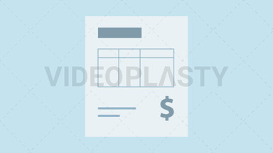 Invoice Icon - Dollar ANIMATION