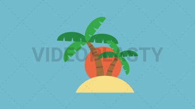 Island Flat Icon ANIMATION