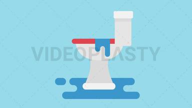 Leaking Toilet Icon ANIMATION