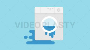Leaking Washing Machine Icon ANIMATION