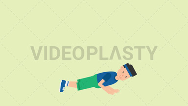 Man Doing Push Ups ANIMATION