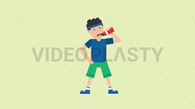 Man Drinking Water ANIMATION