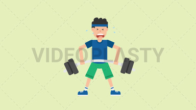 Man Lifting Barbell ANIMATION