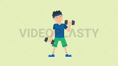 Man Lifting Dumbbells ANIMATION