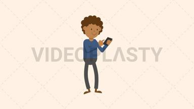 Man Looking at Phone ANIMATION