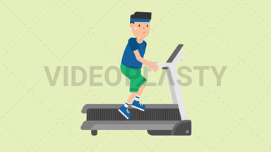 Man on a Treadmill ANIMATION