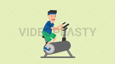 Man on an Exercise Bike ANIMATION