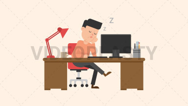 Man Sleeping at his Desk ANIMATION