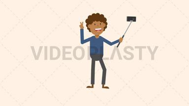 Man Taking a Selfie ANIMATION