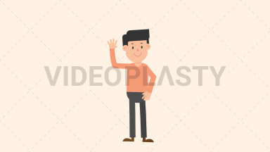 Man Waving Hand ANIMATION