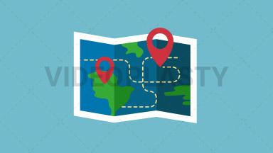 Map Flat Icon ANIMATION