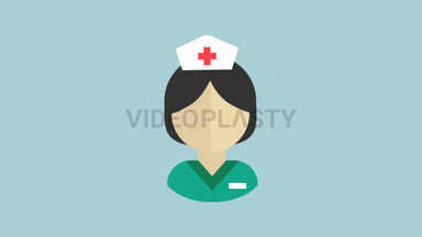 Medical Nurse Flat Icon ANIMATION