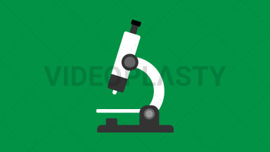Microscope Flat Icon ANIMATION