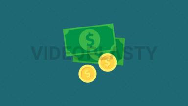 Money Flat Icon ANIMATION