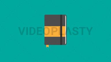Notebook Flat Icon ANIMATION