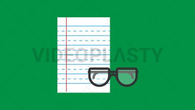 Notepad Flat Icon ANIMATION