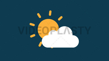 Partly Sunny Icon ANIMATION