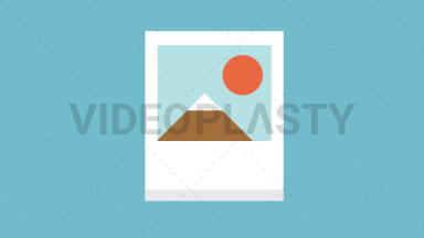 Picture Flat Icon ANIMATION