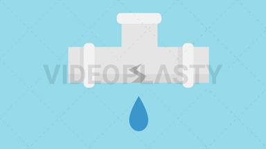 Pipe Leak Icon ANIMATION