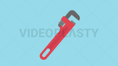 Pipe Wrench Icon ANIMATION