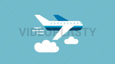 Plane Flat Icon ANIMATION