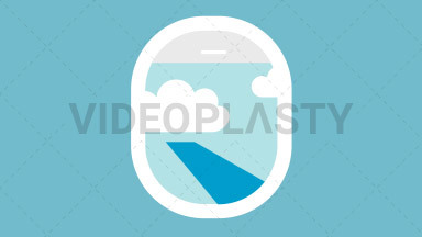 Plane Window Flat Icon ANIMATION