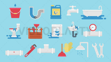 Plumbing Pack 16 Icons ANIMATION