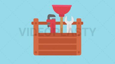 Plumbing Tools Icon ANIMATION