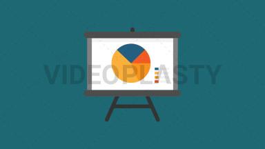 Presentation Flat Icon ANIMATION