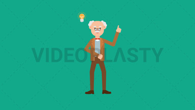 Professor Getting an Idea ANIMATION