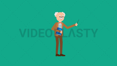 Professor Holding a Book ANIMATION