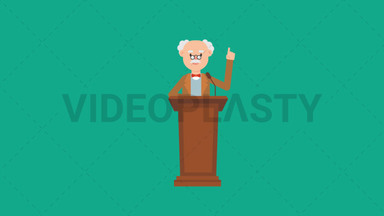 Professor Speaking on the Podium ANIMATION