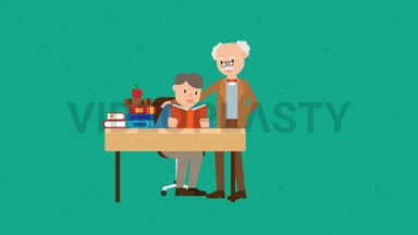 Professor Teaching a Student ANIMATION