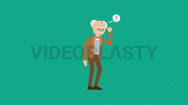 Professor Thinking ANIMATION