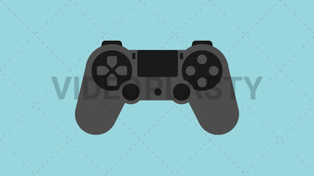 Ps Controller Icon Stock Animation Videoplasty