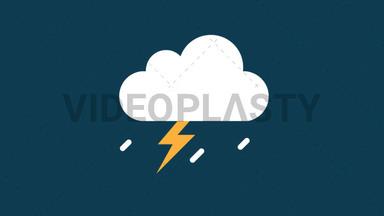 Rain With Thunderstorm Icon ANIMATION