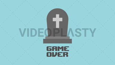 RIP Game Over Icon ANIMATION