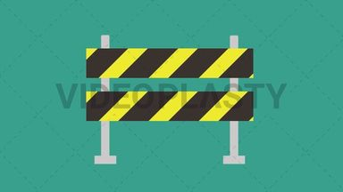 Road Block Barrier Icon ANIMATION