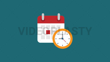 Schedule Flat Icon ANIMATION