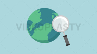 Search the Internet Icon ANIMATION