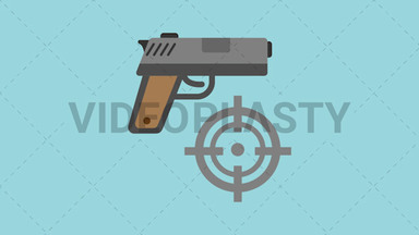 Shooting Target Icon ANIMATION