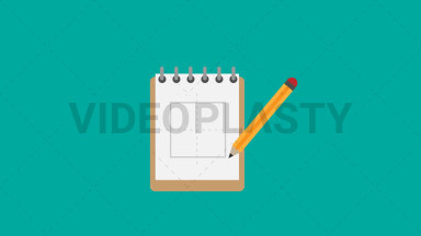 Sketchpad Flat Icon ANIMATION