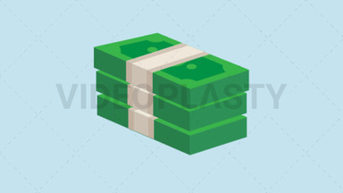 Stack of Money Icon - Dollar ANIMATION