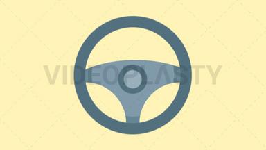 Steering Wheel Icon ANIMATION