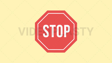 Stop Sign Icon ANIMATION