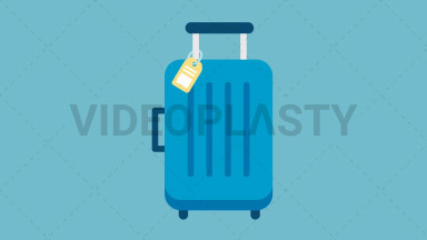 Suitcase Flat Icon ANIMATION