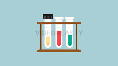 Test Tubes Flat Icon ANIMATION